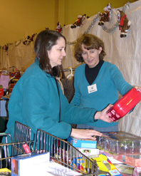 Shopper at Christmas House