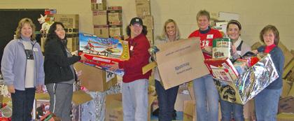 Volunteers at Christmas House